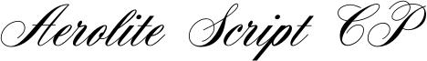 Aerolite Script CP Font