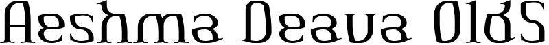 Aeshma Deava OldSerif Font