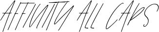Affinity All Caps Font
