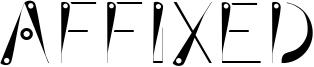 Affixed Font