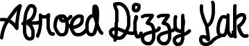 Afroed Dizzy Yak Font