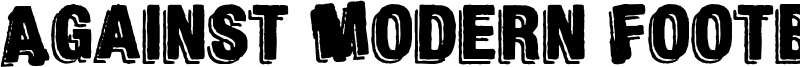 Against Modern Football Font
