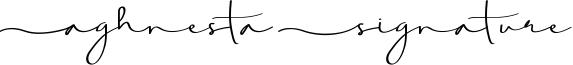 Aghnesta Signature Font