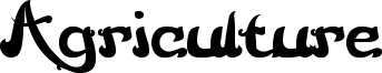 Agriculture Font