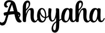 Ahoyaha Font