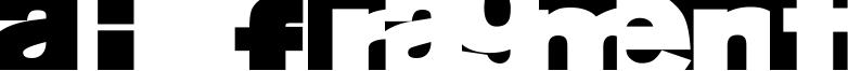 AI Fragment Font