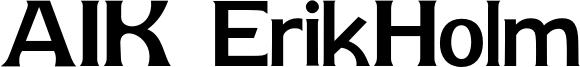 AIK ErikHolm Font