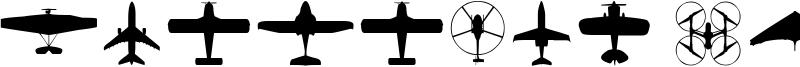 Aircraft Identification Font