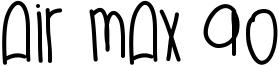 Air Max 90 Font