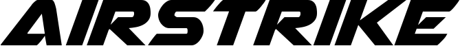 Airstrike Font