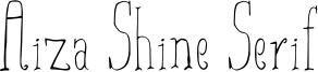 Aiza-Shine Serif.otf