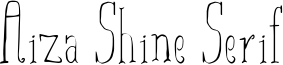 Aiza Shine Serif Font