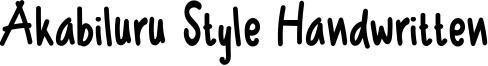 Akabiluru Style Handwritten Font