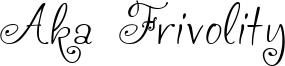 Aka Frivolity Font