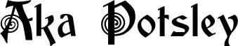 Aka Potsley Font