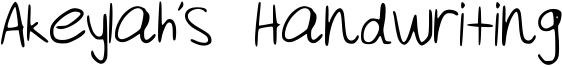 Akeylah's Handwriting Font