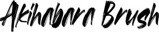 Akihabara Brush Font