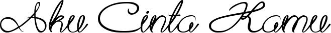 Aku Cinta Kamu Font