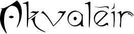 Akvaléir Font
