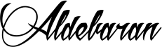 Aldebaran Font