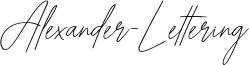 Alexander-Lettering Font