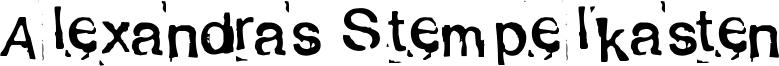 Alexandras Stempelkasten Font