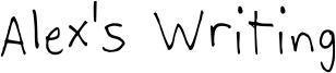 Alex's Writing Font