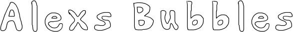 Alexs Bubbles Font