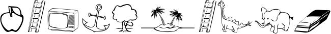 Alfabilder Font