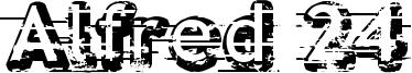 Alfred 24 Font