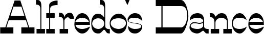 Alfredo's Dance Font
