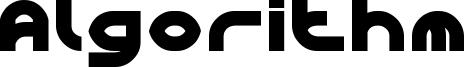 Algorithm Font