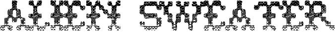Alien Sweater Font