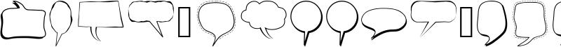 Alin Speech Bubbles Font