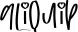 Aliquip Font