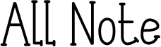 All Note Font