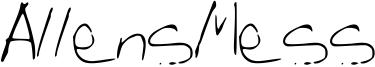 AllensMess Font