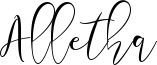 Alletha Font