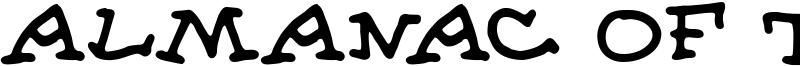 Almanac of the Apprentice Font