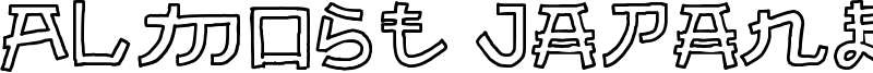 Almost Japanese Cartoon Font