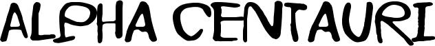 Alpha Centauri Font