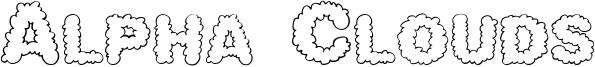 Alpha Clouds Font