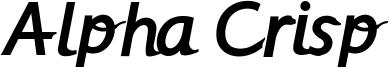 Alpha Crisp Font