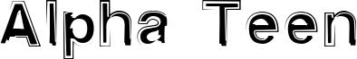 Alpha Teen Font
