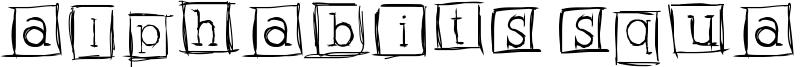 Alphabits Squared Font