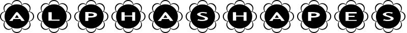 AlphaShapes flowers Font