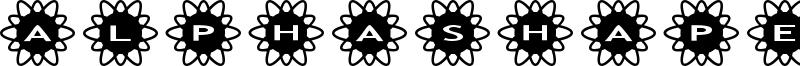 AlphaShapes Flowers 2 Font