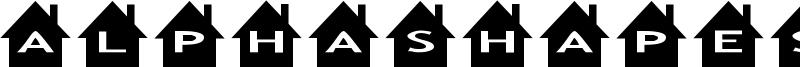 AlphaShapes houses Font