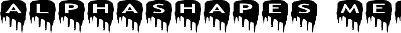 AlphaShapes meltdowns Font