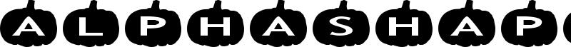 AlphaShapes pumpkins Font